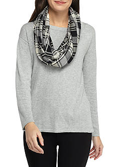 New Directions Plaid Infinity Scarf