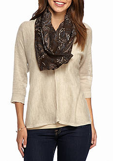 New Directions® Autumnal Paisley Infinity Scarf