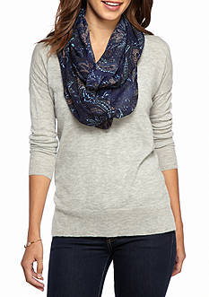 New Directions Autumnal Paisley Infinity Scarf