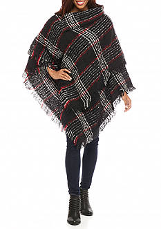 New Directions All Over Plaid Poncho