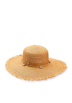 Dorfman Big Brim Frayed Edge Hat