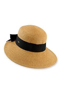 Dorfman Paperbraid Back Bow Hat