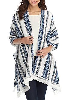 New Directions Ikat Striped Kimono