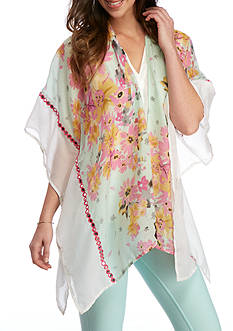 New Directions Floral Kimono