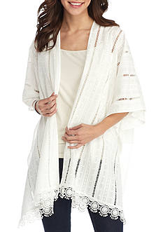 New Directions® Textured Crochet Lace Kimono