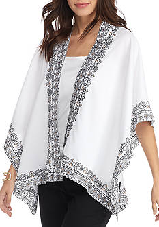 New Directions Embroidered Ruana