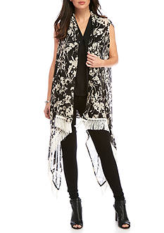 New Directions High Low Floral Duster