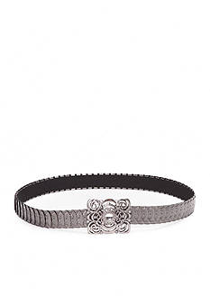 New Directions Embossed Metal Disk Stretch Belt