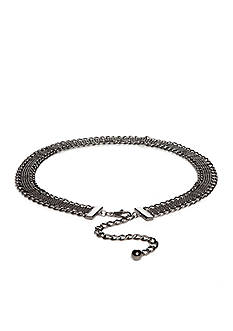 New Directions Shot Bead Chiseled Link Chain Belt