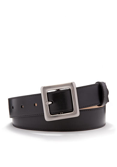 New Directions® Smooth Panel Leather Belt