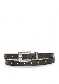 New Directions® Clear Stone Buckle Belt