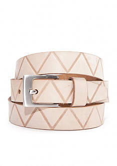 New Directions® Zig Zag Embossed Panel Belt