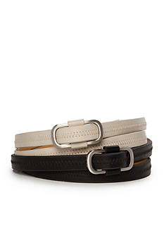 New Directions Zig Zag Stitch Prongless Belt Set
