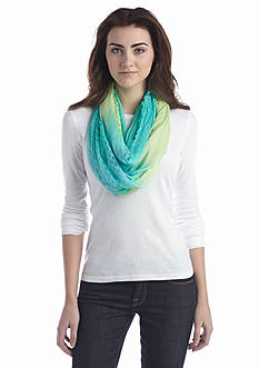 Jessica Simpson Embroidered Ombre Loop Scarf