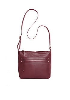 Kim Rogers® Siena Leather Bucket Crossbody