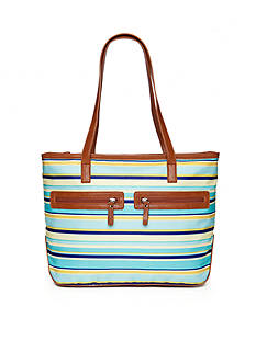 Kim Rogers® Printed Nylon Top Zip Tote