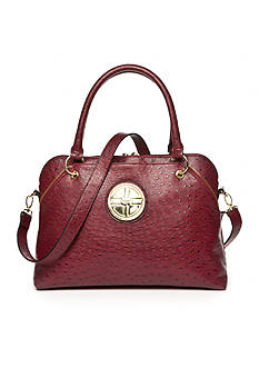 Kim Rogers Ostrich Dome Satchel