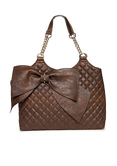 Del Mano Double Handle Quilted Bow Shopper