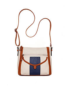 Del Mano Heather Colorblock Crossbody