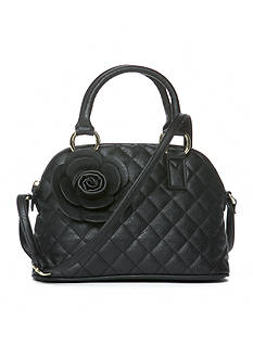 Del Mano Mini Quilted Flower Satchel