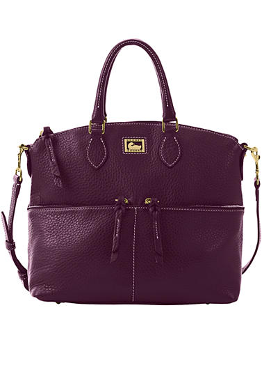 Dooney & Bourke Leather Zip Pocket Satchel