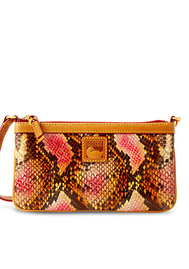 Dooney & Bourke Python Embossed Leather Wristlet