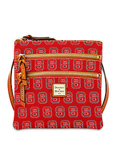 Dooney & Bourke NC State Triple Zip Crossbody