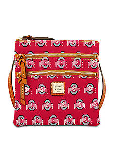 Dooney & Bourke Ohio State Triple Zip Crossbody Bag