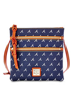 Dooney & Bourke Atlanta Braves Triple Zip Crossbody