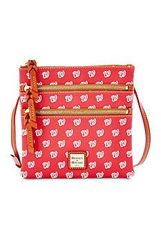Dooney & Bourke Washington Nationals Triple Zip Crossbody