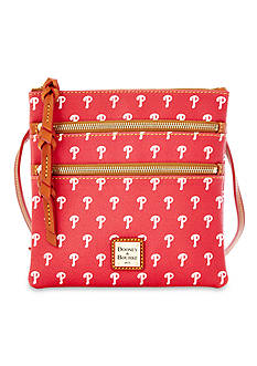 Dooney & Bourke Philadelphia Phillies Triple Zip Crossbody