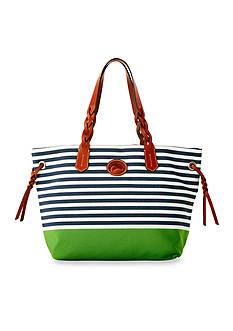 Dooney & Bourke Stripe Nylon Sullivan Shopper