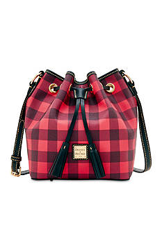 Dooney & Bourke Buffalo Check Drawstring Bag