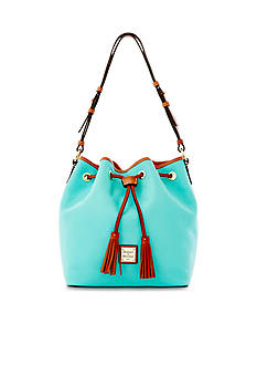 Dooney & Bourke Pebble Leather Kendall Drawstring Bag