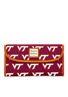 Dooney & Bourke VA Tech Continental Clutch Wallet