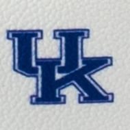 Handbags and Wallets: White/Blue Dooney & Bourke Kentucky Wristlet