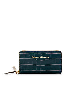 Dooney & Bourke Croco Zip Around Wallet