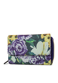 Mundi Exotic Floral Big Fat Wallet With Safekepper