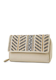 Mundi Neutral Straw Big Fat Wallet with RFID