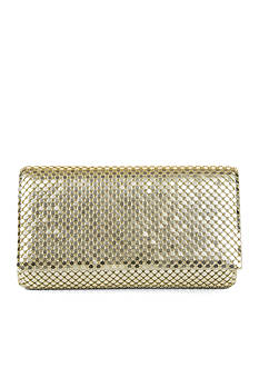 JESSICA MCCLINTOCK Metal Mesh Flap Clutch