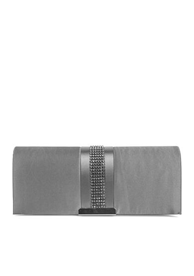 JESSICA MCCLINTOCK Hannah Satin Clutch with Blackened Stones