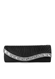 JESSICA MCCLINTOCK Lynn Satin Clutch with Rhinestones