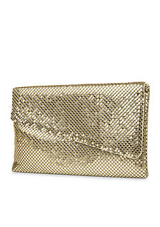 JESSICA MCCLINTOCK Metal Mesh Piper Clutch
