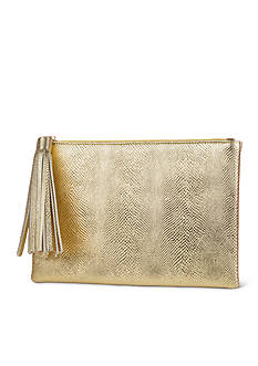 JESSICA MCCLINTOCK Gigi Clutch with Tassel