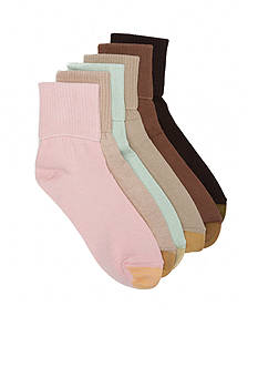 Gold Toe® Turn Cuff Socks - 6 Pack