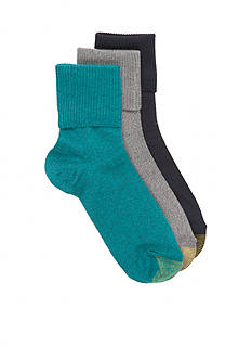 Gold Toe Ultra Soft Providence Turn Cuff Socks - 3 Pack