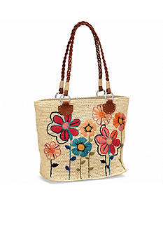 Brighton® Blossom Embroidered Raffia Tote