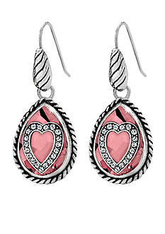 Brighton Your True Color Courageous Heart French Wire Earrings