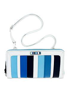 Brighton Cabana Blues Large Zip Wallet