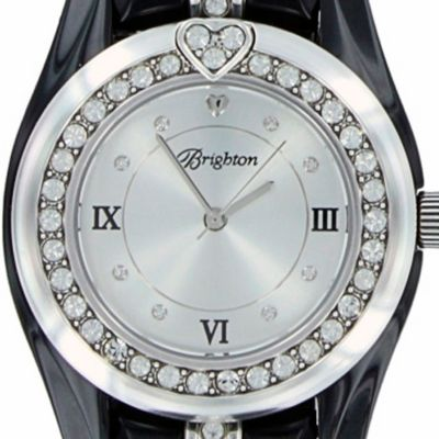 Brighton Watches: Silver/Black Brighton Women's Dana Point Watch